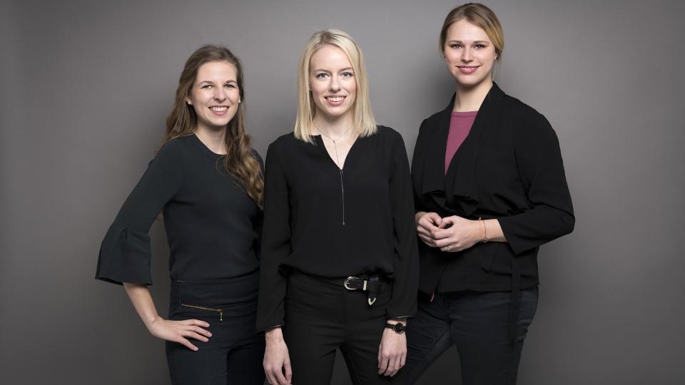 Eva Hubacek, Andrea Köstler und Lisa Pernkopf