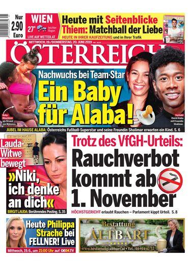 Österreich - Ein Baby für Alaba!