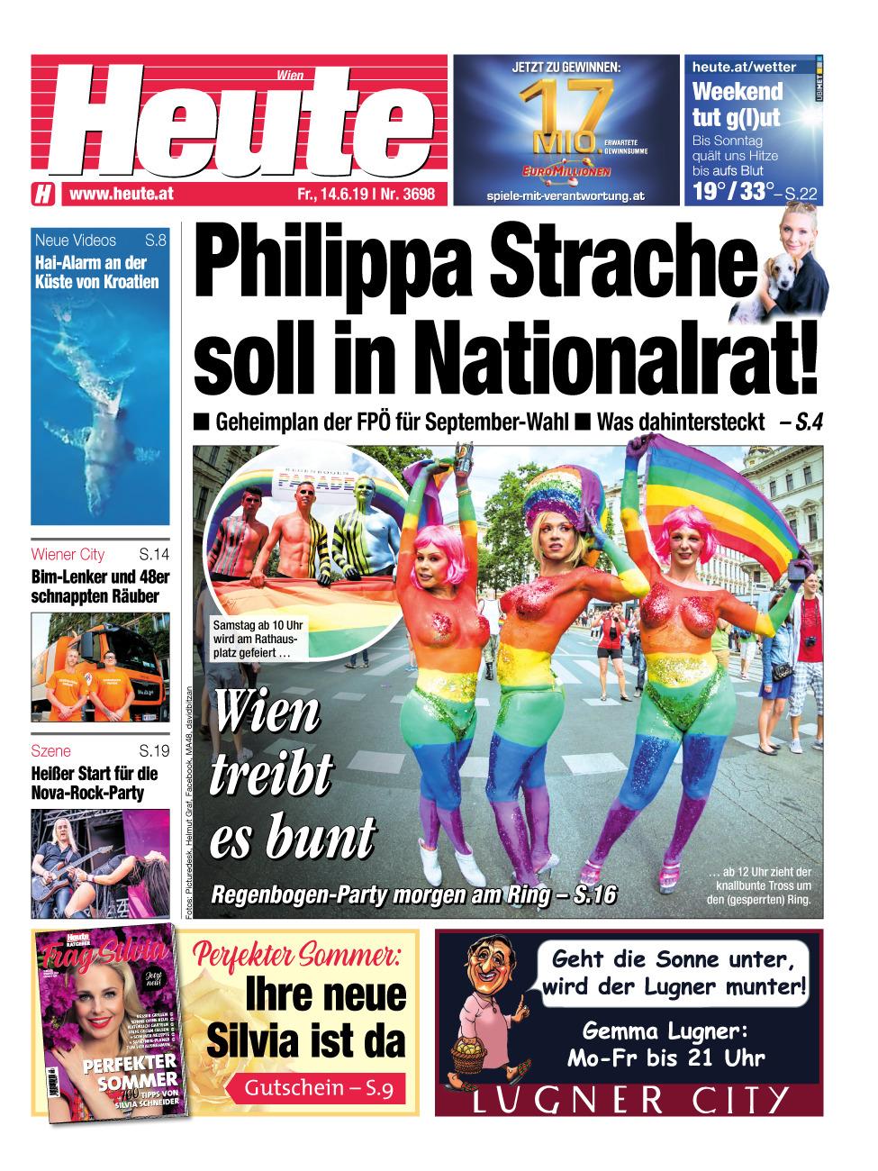 Cover Wiener Zeitung 14.6.2019