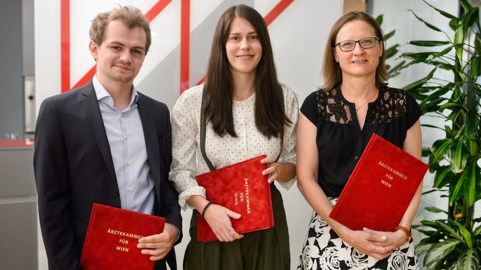 Philip Pramer, Elisa Tomaselli und Astrid Plank