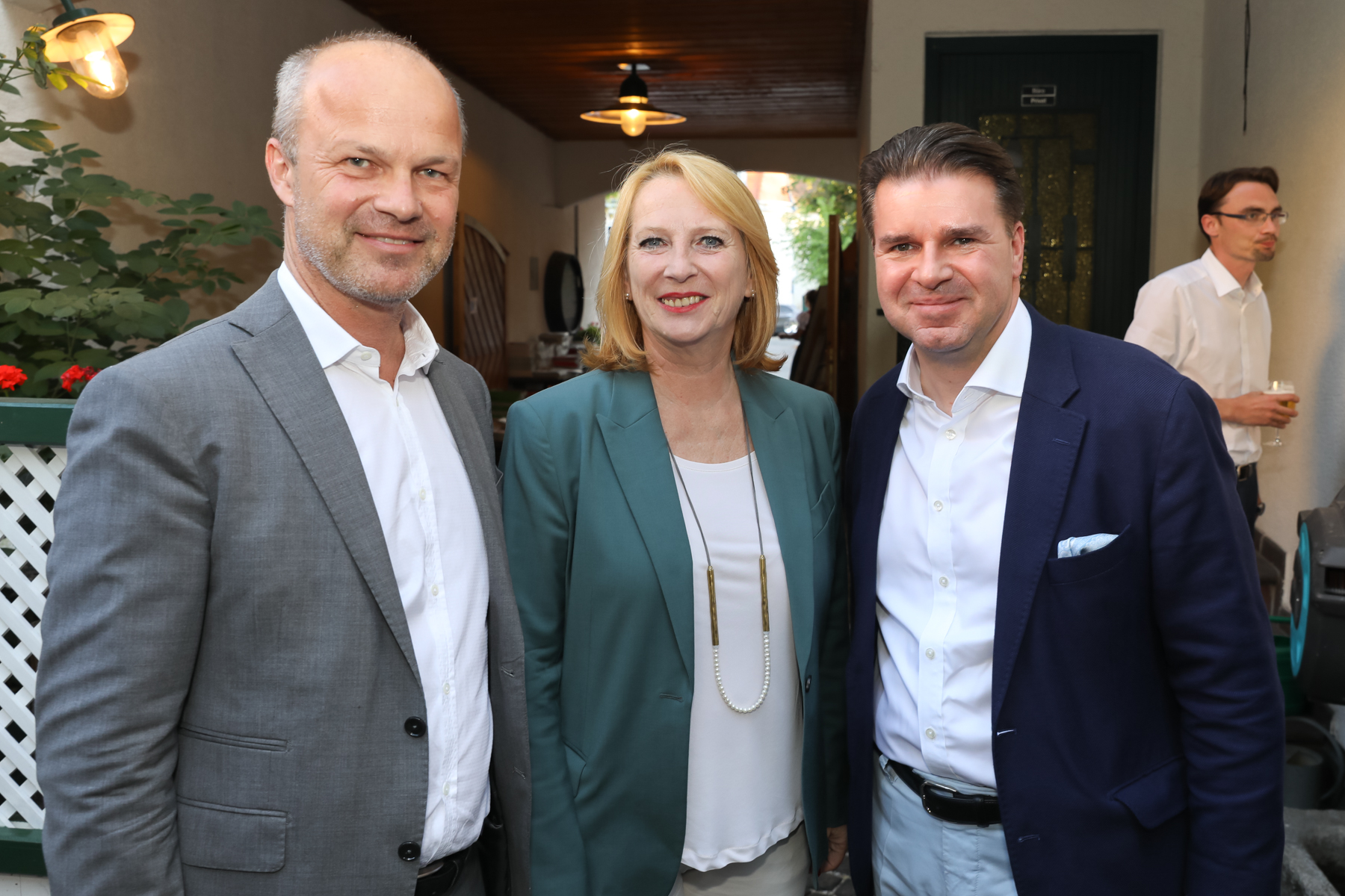 Markus Mair und Gerald Grünberger begrüßten die 2. Präsidentin des Nationalrates Doris Bures