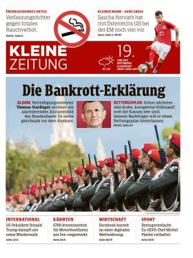 Kleine Zeitung - Die Bankrott-Erklärung