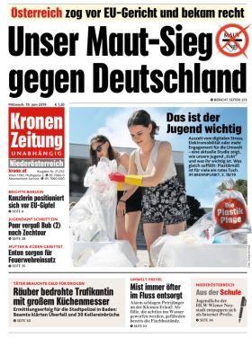 Kronen Zeitung - Unser Maut-Sieg gegen Deutschland