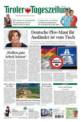 Tiroler Zeitung - Deutsche PKW-Maut für Ausländer ist vom Tisch