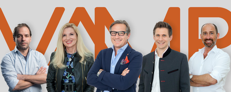 Der neue VAMP Vorstand (v.l.n.r.) Andreas Eisenwagen, Andrea Tassul , Gerhard Huber, Horst Brunner und Marcus Wild