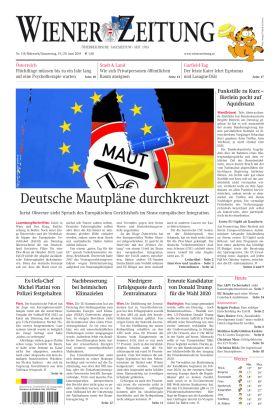 Wiener Zeitung - Deutsche Mautpläne durchkreuzt