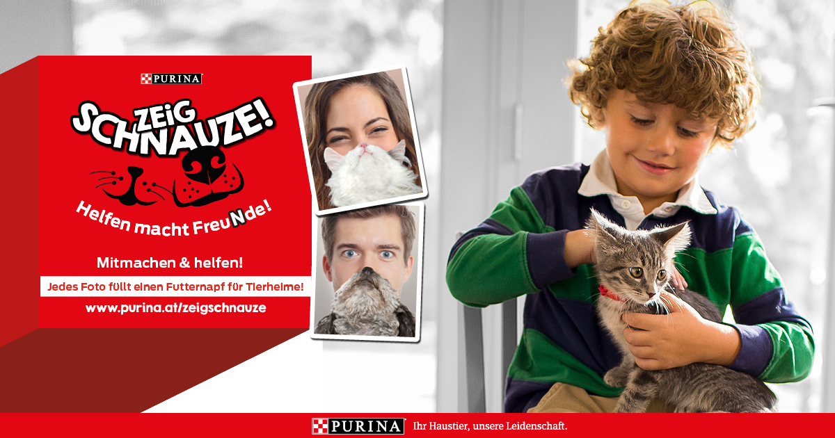 "Purina Charity-Aktion ""Zeig Schnauze"""