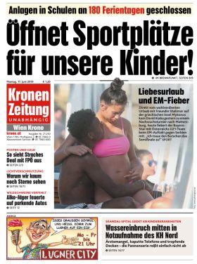 """Kronen Zeitung - """"Öffnet Sportplätze für unsere Kinder"""""""
