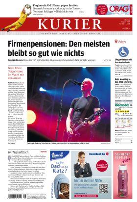 """Kurier titelt – """"Firmenpensionen: Den meisten bleibt so gut wie nichts"""""""