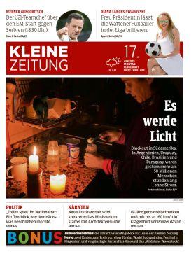 """Kleine Zeitung – Blackout in Südamerika: """"Es werde Licht"""""""