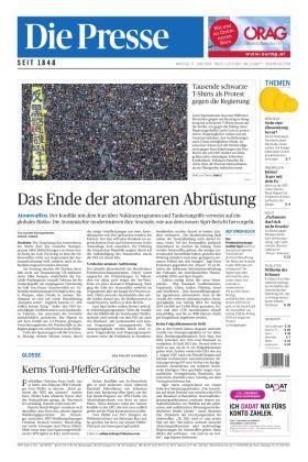 """Die Presse – """"Das Ende der atomaren Abrüstung"""""""