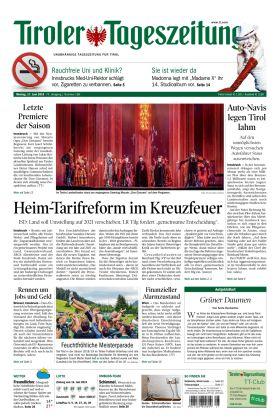 "Tiroler Tageszeitung – ""Heim-Tarifreform im Kreuzfeuer"""