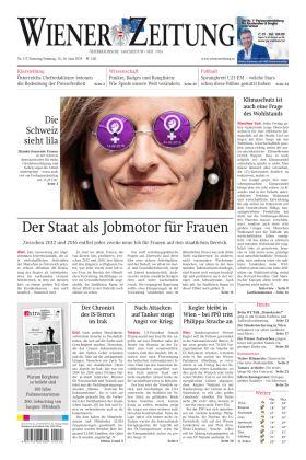 """Wiener Zeitung – """"Der Staat als Jobmotor für Frauen"""""""