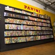 Magazinwand im Panini Verlag Stuttgart
