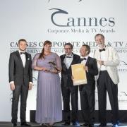 V.l.n.r.: Max Wegscheider und Ingrid Gogl (ÖBB), Markus Riedl und Martin Wolfram (News on Video), Alexander V. Kammel (Gründer Cannes Corporate Media & TV Awards)