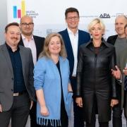 V.l.n.r.: Florian Cech (Centre for Informatics and Society (C!S), TU Wien), Yussi Pick (Pick & Barth), Lena Doppel-Prix (Cat-x media), Klemens Ganner (APA-DeFacto), Nina Hoppe (HOPPE – Strategia. Politica. Media.), Dieter Zirnig (neuwal) und Thomas Stern (Braintrust)