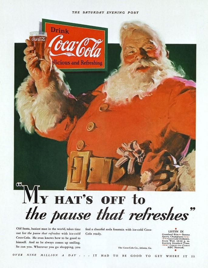 Coca Cola Weihnachtssujet 1931 17. Juni 2021