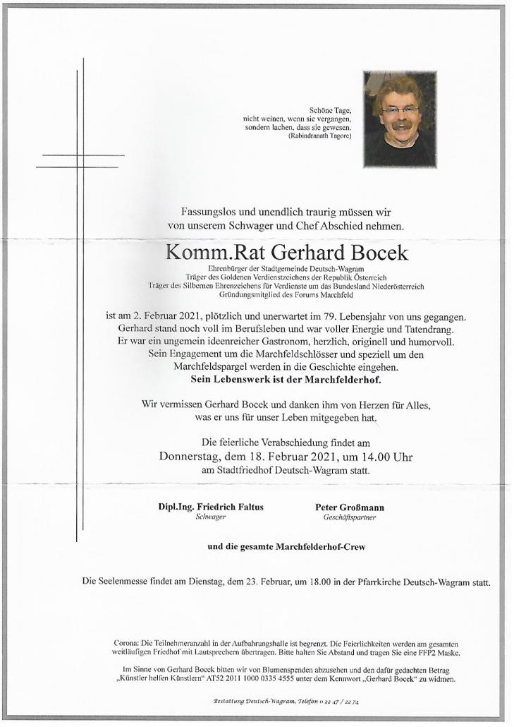 Parte Gerhard Bocek 16. Juni 2021